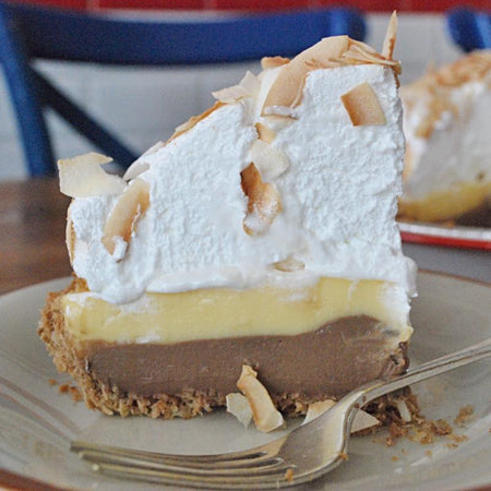 Coconut Cream Pie Deep Dish Pie