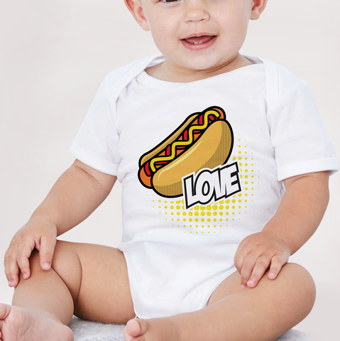 Body neonato LOVE HOT DOG