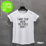 T-shirt DONNA I WANT TO BE WHERE...