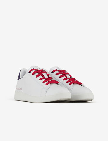 ARMANI EXCHANGE DONNA - SNEAKER ACTION LEATHER - BIANCO