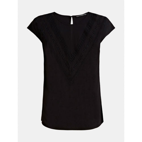 GUESS DONNA - SS MALIKA TOP - NERO