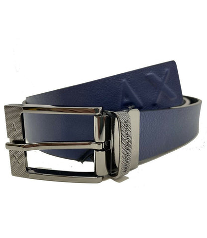 ARMANI EXCHANGE UOMO - MAN'S BELT - BLU E NERO