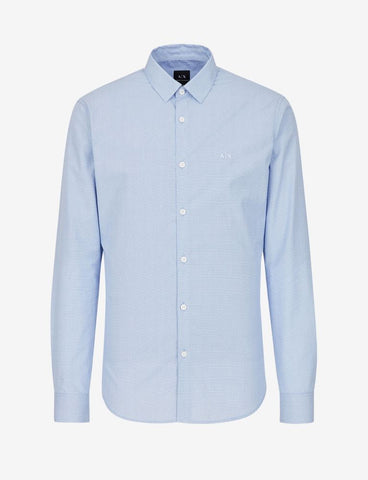 ARMANI EXCHANGE UOMO - SHIRT - BLU