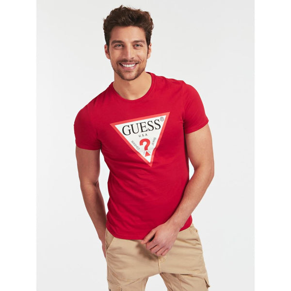 GUESS UOMO - T-SHIRT - ROSSO