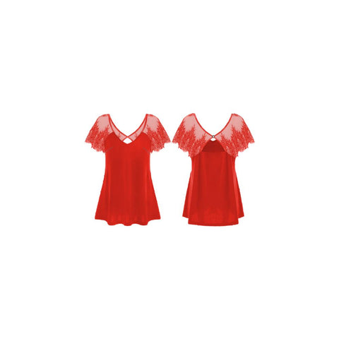GUESS DONNA - SS ILIA TOP - ROSSO