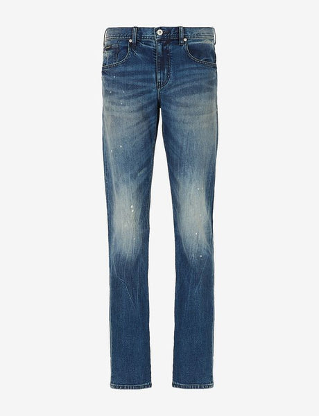 ARMANI EXCHANGE UOMO - JEANS DENIM - DENIM BLU