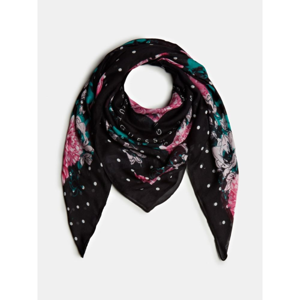 GUESS DONNA - ROSES AND LOGO SCARF - CODICE NUMERICO
