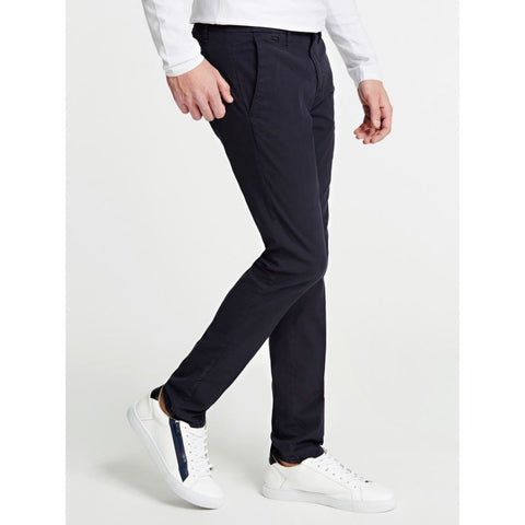 GUESS UOMO - CHINOS SUPER SKINNY - BLU