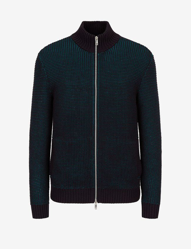 ARMANI EXCHANGE UOMO - CARDIGAN - BLU