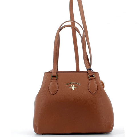 U.S. POLO ASSN BORSE/ACCESSORI - Stanford S Shopping PU Brown - UNICO