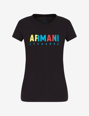ARMANI EXCHANGE DONNA - T-SHIRT - NERO