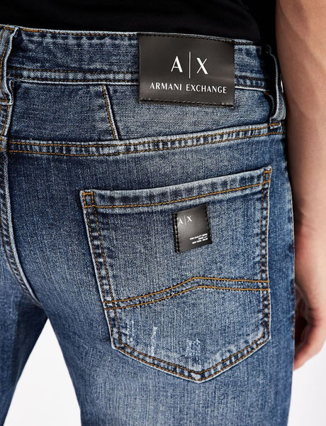 ARMANI EXCHANGE UOMO - 5 POCKETS PANT - DENIM BLU