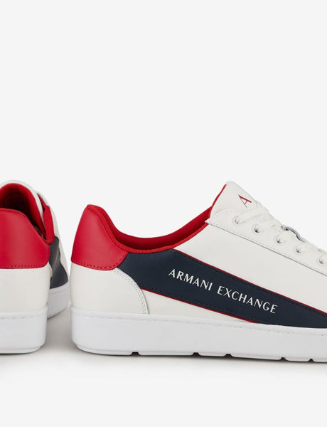 ARMANI EXCHANGE UOMO - SNK ACTION LEATHER+PU - BIANCO