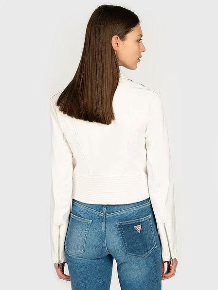 GUESS DONNA - NEW KHLOE JACKET - BIANCO