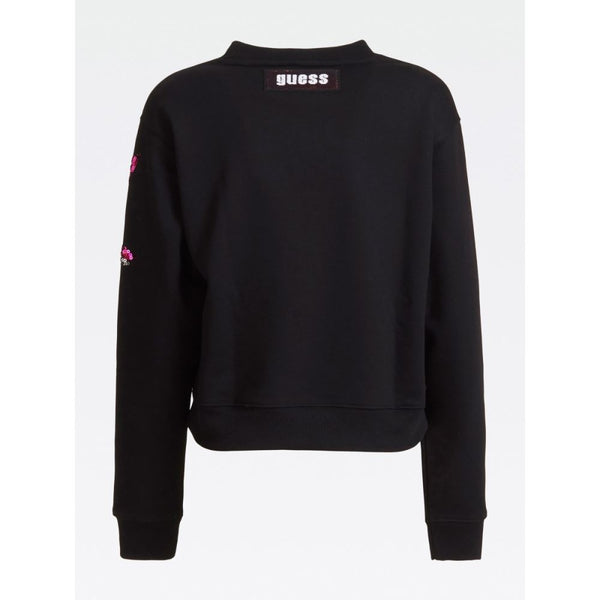 GUESS DONNA - JENNY FLEECE - NERO