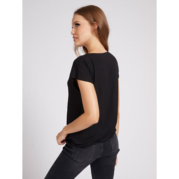 GUESS DONNA - SS CN TRINA TEE - NERO