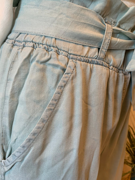 Light Wash Chambray Pants