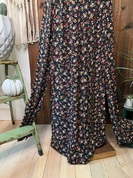 Micro Floral and Dot Sweetheart Maxi