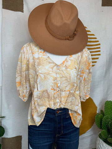 Fall Days Floral Top (one small left, trying time re-stock!)