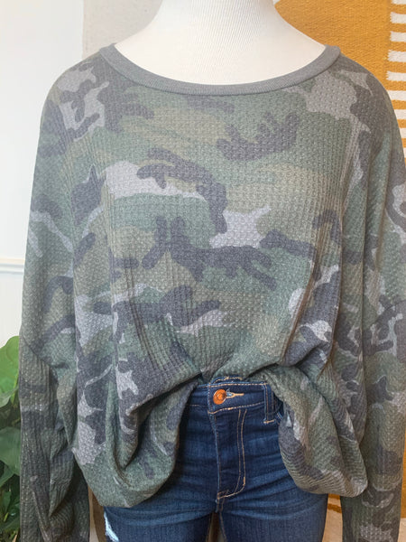 Lightweight Thermal Camo Pullover