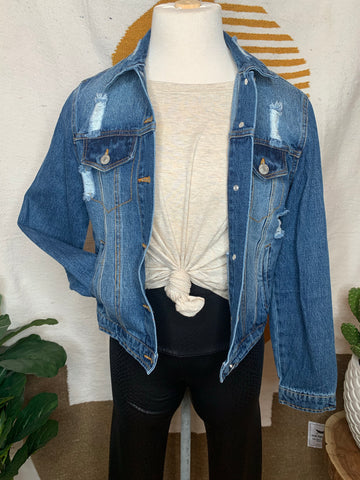 Distressed Denim Jacket (Standard + Extended)