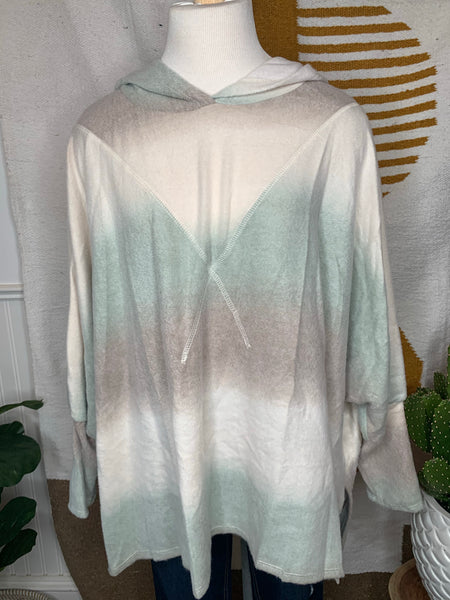 Fade into Fall Poncho Hoodie