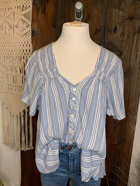 Classic Twist Striped Top