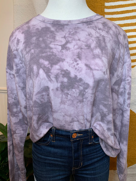 Lavender Tiedye Pullover (Standard + Extended Sizing)