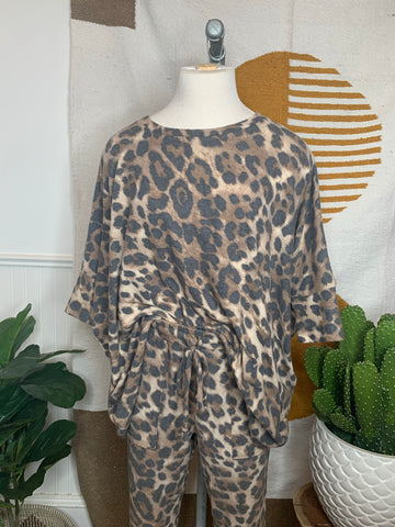 Animal Print Lounge Set (Top)