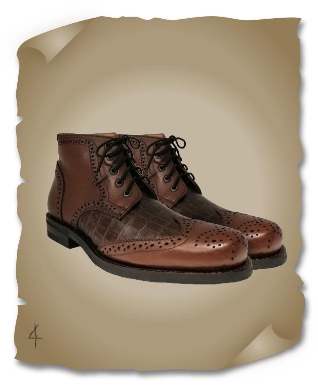 Botin Bostoniano Pull Up Coco Belly Con Venado Americano Brandy