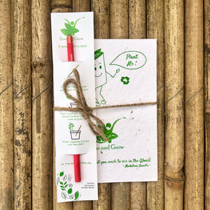 Sow and Grow Eco-Friendly Plantable Diary and Seed Pencil Combo | Set of 5