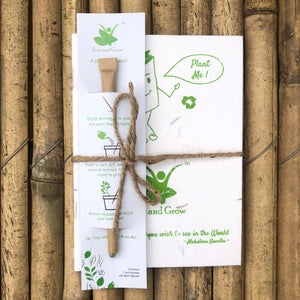 Sow and Grow Eco-Friendly Plantable Diary and Seed Paper Pen Combo | Set of 5
