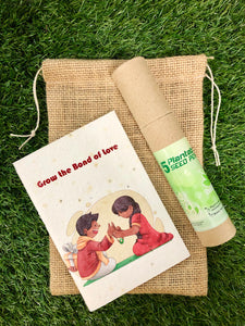 Rakhi themed Plantable Diary +5 Plantable Pens in a Jute Bag
