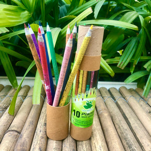 Jute Bag Collection: 1 Seed Diary and 10 Seed Colour Pencils