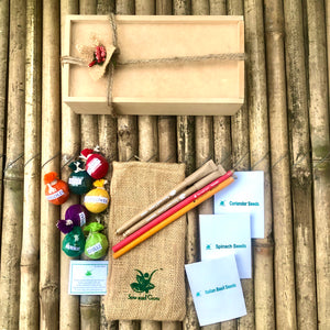 The Beej Box: 10 Types of Seeds in a Wooden Box