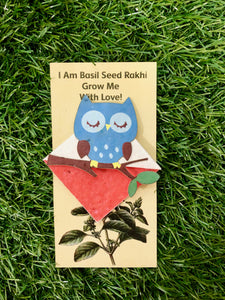 Owl on a Branch :Kids 3-in-1 Bookmark Plantable Rakhi