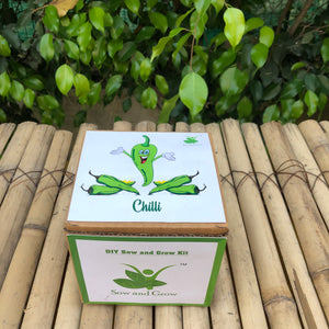 Sow and Grow DIY Gardening Kit of Chilli (Grow it Yourself Vegetable Kit)