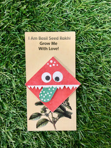Cute Monster :Kids 3-in-1 Bookmark Plantable Rakhi