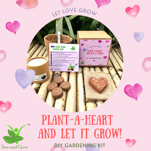 Plant-A-Heart : Plantable Heart with Tomato Seeds: DIY Grow Kit