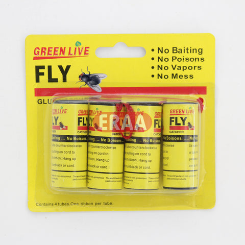Green Live Fly Glue Catcher 4Pack