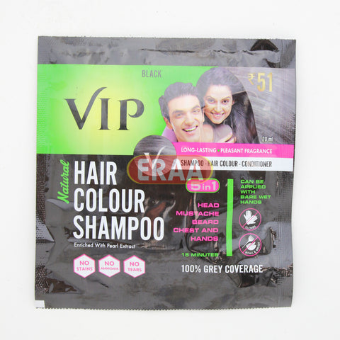VIP Hair Colour Shampoo Black 20ml