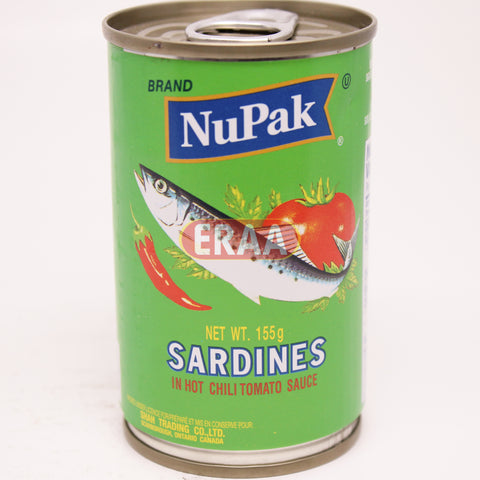Nupak Sardines In Hot Chili Tomato Sauce 155g