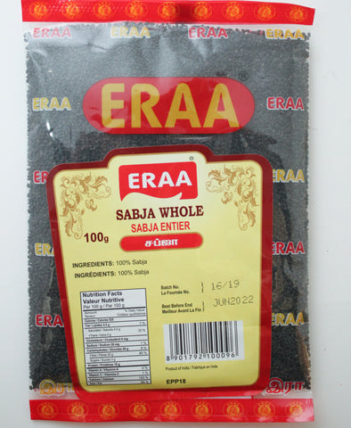 Eraa Sabja Whole (Poppy Seed) 100g