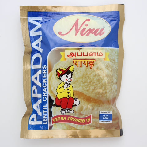 Niru Papadam Lentil Crackers 150g