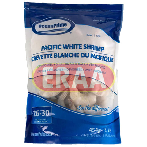 Ocean Prime White Pacific Shrimp 454g