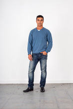 Load image into Gallery viewer, V Neck Cashmere-merino wool jumper Ansett gold knitwear