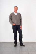 Load image into Gallery viewer, Cable V-Neck Cardi with Pocket KW8604