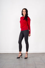 Load image into Gallery viewer, Cashmere- merino crew neck Pullover oversized FW5102