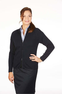 MTF LADIES LONG SLEEVE POINTELLE CARDIGAN WITH 2 WAY ZIP MF8012