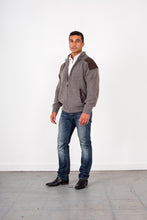Load image into Gallery viewer, Woollen full zip Jacket with Patches & Pockets KW8015